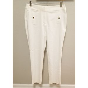 Calvin Klein Light White Dress Stretch Ankle Pants